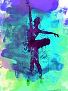 Ballerina Watercolor 4 Print by Irina  March