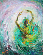 Music Art Painting Originals - Ballerina by Xueling Zou