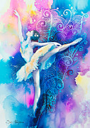 Dance Mixed Media Metal Prints - Ballerinaaa Metal Print by Lyubomir Kanelov