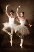 Ballet Dancers Digital Art Posters - Ballet Class Poster by Brian Enright