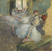 Ballerinas Framed Prints - Ballet Dancer Framed Print by Degas
