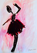 Outsider Art Mixed Media - Ballet Dancer by Venus
