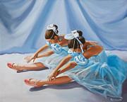 Ballet Dancers Print by Paul Walsh