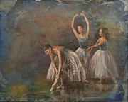 Ballet Dancers Mixed Media Prints - Ballet Dancers Print by Susan Bradbury