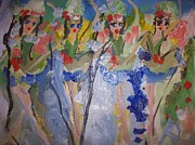 Ballet Dancers Paintings - Ballet good night out by Judith Desrosiers