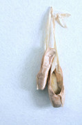 Ballet Pink Framed Prints - Ballet Shoes Framed Print by Diane Diederich