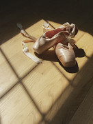 Ballet Pink Framed Prints - Ballet Slippers Framed Print by Diane Diederich