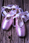 Ballet Pink Framed Prints - Ballet slippers Framed Print by Garry Gay