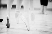 Ballet Dancer Photo Posters - Ballet Students Demonstrating En Pointe Classical Technique At A Ballet School In The Uk Poster by Joe Fox