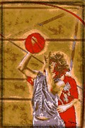 Professional Basketball Prints - Ballin It Up Print by Dan Stone