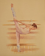 Ballet Drawings Originals - Balllet Dancer In Extension by Phyllis Tarlow