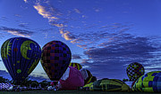 Balloon Fest Framed Prints - Balloon Fest 2012 Sunset Framed Print by Tom Climes