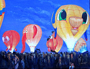 Rides Painting Originals - Balloon Fest Glowdio by Victoria Mauldin
