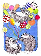 Whimsical Animals  Art - Balloon Fun by Lynnda Rakos