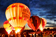 Inflatable Metal Prints - Balloon Glow Metal Print by Darren Fisher