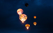 Albuquerque Prints - Balloon Glow Print by Linda Pulvermacher