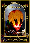 Temecula Framed Prints - Balloon Glow Poster Framed Print by Ronald Chambers