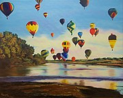 Grande Painting Framed Prints - Balloon Grande Framed Print by Lisa Lea Bemish