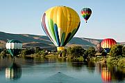 Water Prints - Balloon Reflections Print by David Patterson