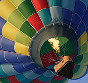 Balloon Fest Framed Prints - Balloon Ride-with Flame Framed Print by Jaime Costanzo