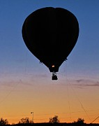 Balloon Silhouette Print by Vickie Ketch
