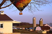 Rick Weiberg - Balloon visits Amish Farm