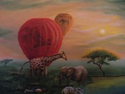 Safari Paintings - Balloons by Eric Scott Hayes