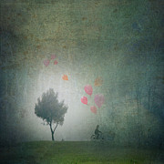 Fantasy Tree Mixed Media - Balloons In The Mist by Art Skratches