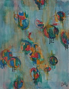 Balloons Mixed Media Originals - Balloons by L Sedberry