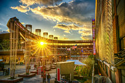 Minnesota Twins Posters - Ballpark Sunset at Target Field Poster by Mark Goodman