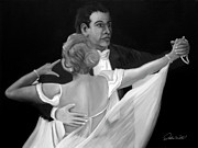 Ballroom Painting Originals - BALLROOM DANCERS - 2 of 10 in Series by Andrew Wells