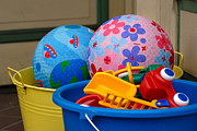 Play Framed Prints - Balls and Toys in Buckets Framed Print by Amy Cicconi