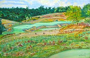 Golf Pastels - Ballyhack double green by Frank Giordano