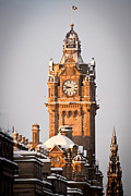 Princes Digital Art Posters - Balmoral hotel clock tower Poster by Paul Gibb