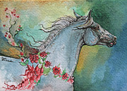 Horse Drawings Originals - Balon polish arabian horse portrait 1 by Angel  Tarantella