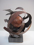 Basketball Abstract Sculptures - Baloncesto by Elizabeth Steel