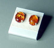Honey Jewelry - Baltic Amber Stud Earrings by Robin Copper