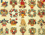 Cities Tapestries - Textiles Posters - Baltimore Album Quilt c 1850 Poster by Hellin Melvina Starr