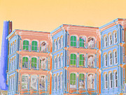 Ballroom Mixed Media Posters - Baltimore Ballroom Dance Bldg Poster by Rebecca  Hudnall