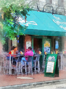 Cafes Posters - Baltimore - Happy Hour in Fells Point Poster by Susan Savad