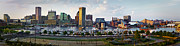 Panoramic Marina Framed Prints - Baltimore Harbor Skyline Panorama Framed Print by Susan Candelario