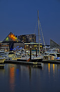Nightscapes Prints - Baltimore Harbor Print by Susan Candelario