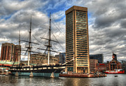Frigates Photos - Baltimore Inner Harbor by Deborah Smolinske