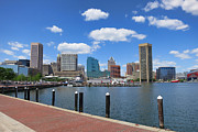Baltimore Framed Prints - Baltimore Inner Harbor Framed Print by Olivier Le Queinec