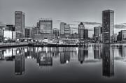 Patapsco River Posters - Baltimore Inner Harbor Skyline at Dawn III Poster by Clarence Holmes
