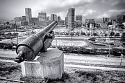 Cannon Framed Prints - Baltimore Inner Harbor Skyline Framed Print by Olivier Le Queinec