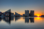 Patapsco River Photos - Baltimore Inner Harbor Sunrise I by Clarence Holmes