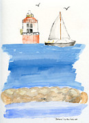 Lighthouse Drawings Framed Prints - Baltimore Lighthouse Framed Print by Eva Ason