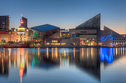 Patapsco River Posters - Baltimore National Aquarium at Dawn I Poster by Clarence Holmes