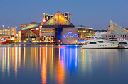 Patapsco River Posters - Baltimore National Aquarium at Twilight I Poster by Clarence Holmes
